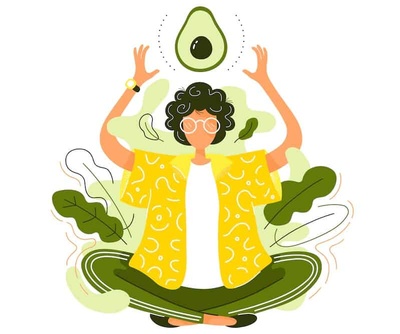 woman-praising-avocado-in-meditation