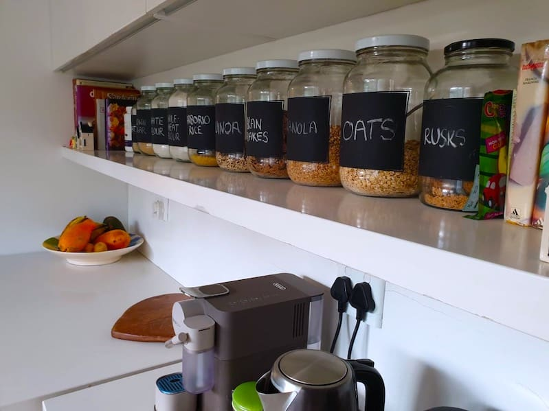 How I like to organise my pantry items in the kitchen