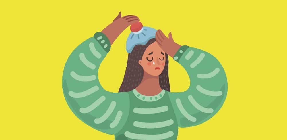 woman-icing-her-head-crying-flare-survival-kit