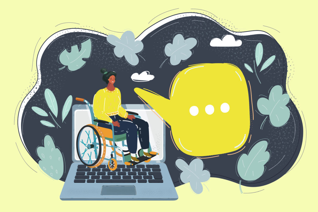woman-in-wheelchair-by-laptop-work-office-concept